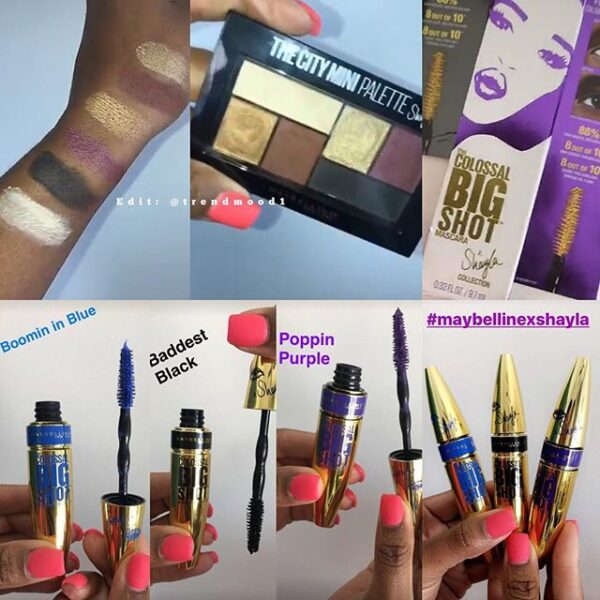 cbf4df4c670 Swatches ? The NEW Collaboration @maybelline X @makeupshayla ...